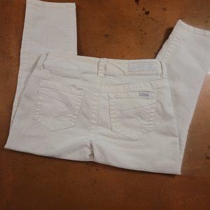 Seven7 Cropped White Jeans SIze 8
